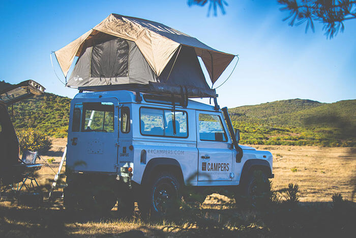 Land Rover Defender camper for rent